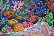 Clown Fish Mixed Media - Saltwater Tapestry by Laura Pyka