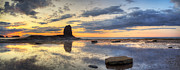 North Yorkshire Prints - Saltwick Bay Blacknab Print by Martin Williams