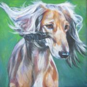 Saluki Framed Prints - Saluki Framed Print by Lee Ann Shepard