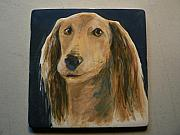 Portraits Ceramics - Saluki portrait by Phillip Dimor