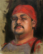 Oil Portrait Painting Originals - Salvador by Anna Bain