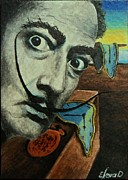 Salvador Dali  Paintings - Salvador Dali by Lena Day