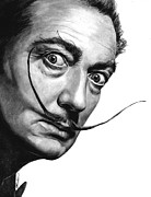 Salvador Dali  Paintings - Salvador Dali portrait by Olga Tereshchuk