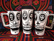 Salvador Mixed Media - Salvadore Dali Skull Travel Mug by PattyMara Gourley