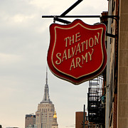 Charity Prints - Salvation Army New York Print by Andrew Fare