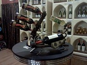 Wine Sculptures - Salvation Creations wine racks by Rankine Roth