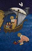 Byzantine Painting Prints - Salvation Print by Marinella Owens