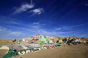Salvation Mountain Posters - Salvation Mountain Poster by Christina Czybik