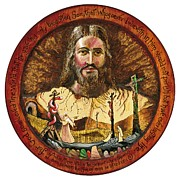 Jesus Pyrography Metal Prints - Salvation Metal Print by Peter Olsen