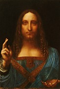 Roberto Prusso Metal Prints - Salvator Mundi Metal Print by Reproduction