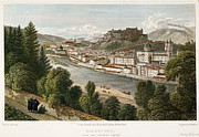 1822 Framed Prints - Salzburg, Austria, 1822 Framed Print by Granger