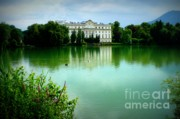 Salzburg Prints - Salzburg Home with Lake Print by Carol Groenen