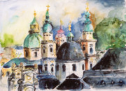 Salzburg Painting Framed Prints - Salzburg Framed Print by Ingrid Dohm