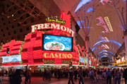 Fremont Street Framed Prints - Sam Boyds Fremont Casino Framed Print by Andy Smy