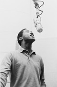 Rhythm And Blues Music Prints - Sam Cooke, 1931-1964 Singing Print by Everett