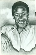 Gospel Drawings Prints - Sam Cooke Print by Anthony Hurt