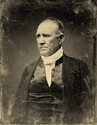 Daguerreotype Framed Prints - Sam Houston, Democratic Senator Framed Print by Everett