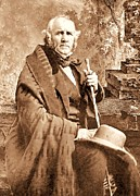 Pd Framed Prints - Sam Houston Framed Print by Pg Reproductions