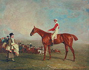 Thoroughbred Framed Prints - Sam with Sam Chifney Jr. Up Framed Print by Benjamin Marshall