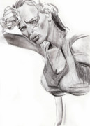Female Figure Drawings Drawings Drawings - Samantha by Michael McKenzie