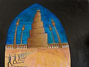 Iraq Painting Posters - Samarra Poster by Julia Collard