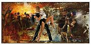 Dancers Mixed Media Acrylic Prints - Samba Acrylic Print by James Robinson