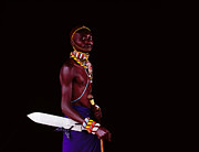 Looking Out Side Prints - Samburu Warrior Print by Harry Hook