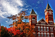 Tori Prints - Samford Hall in the Fall Print by Victoria Lawrence