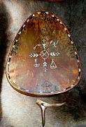 Shaman Prints - Sami Shaman Drum Print by Merja Waters