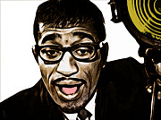 Samuel Mixed Media Framed Prints - Sammy Davis jr Framed Print by The DigArtisT