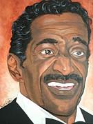 Portraits By Timothe Framed Prints - Sammy Davis Jr. Framed Print by Timothe Winstead