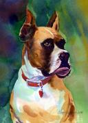 Boxer Painting Prints - Sammy Print by Lee Klingenberg