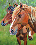 Mustang Paintings - Sammys Posse by Anne West