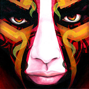 Tribal Painting Originals - Samnation10-05 by Sam Jennings