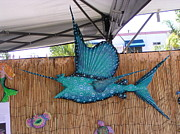 Sailfish Mixed Media - Sampson the Sailfish by Dan Townsend