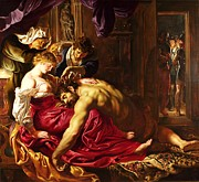 Rubens Painting Prints - Samson and Delilah Print by Pg Reproductions