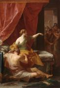 Cut Painting Framed Prints - Samson and Delilah Framed Print by Pompeo Girolamo Batoni
