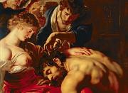Bible Painting Prints - Samson and Delilah Print by Rubens