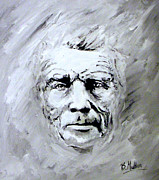 Acrylics Painting Prints - Samuel Beckett Print by Barry Mullan