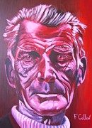 Writer Painting Originals - Samuel Beckett by Frank Cullen