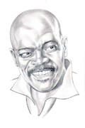 Famous People Drawings - Samuel L. Jackson  by Murphy Elliott