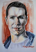 At Work Painting Prints - Samuel Witwer Print by Francoise Dugourd-Caput