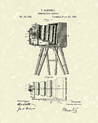 Camera Drawings Prints - Samuels Photographic Camera 1885 Patent Art Print by Prior Art Design