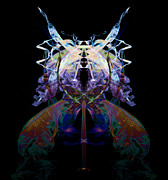 Psychedelic Photo Prints - Samurai Bug Plant Print by David Kleinsasser