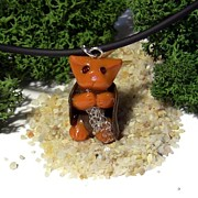 Animals Jewelry Originals - Samwise Kitty Lord of the Rings Parody Necklace by Pet Serrano