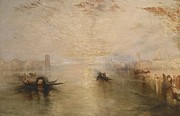 Lagoon Painting Prints - San Benedetto Looking Toward Fusina Print by James Baker Pyne