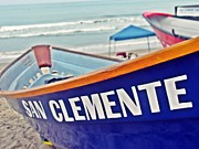 Clemente Acrylic Prints - San Clemente Dory Boat Acrylic Print by Traci Lehman