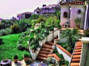 San Clemente Digital Art Framed Prints - San Clemente Estate Backyard Framed Print by Kathy Tarochione