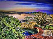San Clemente Estate Print by Kathy Tarochione
