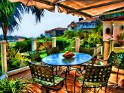 San Clemente Estate Patio 2 Print by Kathy Tarochione